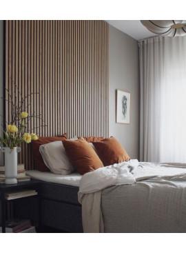 Ribbvägg / akustikpanel sovrum
